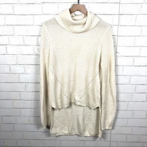 Anthropologie, Moth, High Low Cowl Neck Sweater